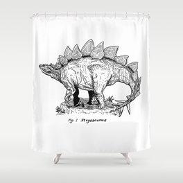 Figure One: Stegosaurus Shower Curtain