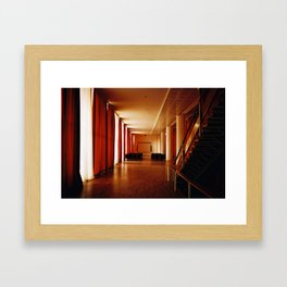curtain room Framed Art Print
