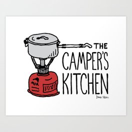 The Camper's Kitchen Art Print
