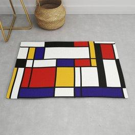 Mondrian Shape Art Rug