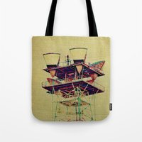 industrial Tote Bags featuring Industrial  by Johanna Ochs