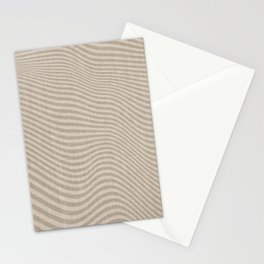 Neutral, Abstract Striped Wave Pattern, Boho Wall Art Stationery Cards