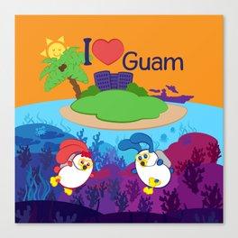 Ernest & Coraline | I love Guam Canvas Print