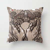 circle Throw Pillows featuring Circle by Iris V.