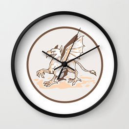 Angry Griiffin Side Circle Cartoon Wall Clock