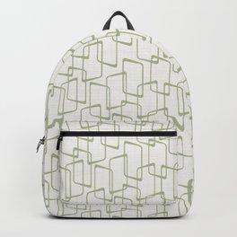 Reverse Beryl Green Mid Century Geometric Pattern Backpack