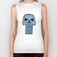 punisher Biker Tanks featuring Celtic Punisher by ronnie mcneil