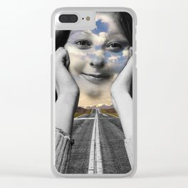 Road Ahead Clear iPhone Case