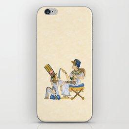 King Tut and Queen Ankhesenamun iPhone Skin