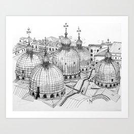 San Marco Rooftops Art Print