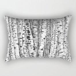 Birches ink drawing Rectangular Pillow