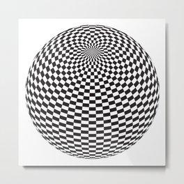 Squares On The Ball Metal Print