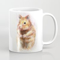 hamster Mugs featuring hamster by dace k
