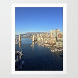 Vancouver by Day Art Print