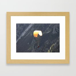 Parachute in Chamonix Framed Art Print