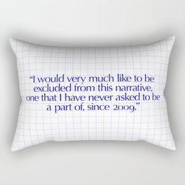 I would Rectangular Pillow