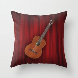 Flamenco Spanish Guitar Music Throw Pillow