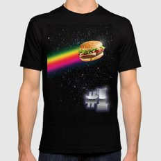 #1 Burger Black MEDIUM Mens Fitted Tee