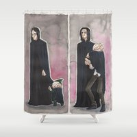 snape Shower Curtains featuring Uncle Snape by CaptBexx
