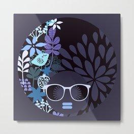 Afro Diva : Lavender Periwinkle Metal Print