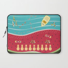 Summer Fun at the Watermelon Beach Laptop Sleeve