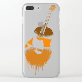 Spanish Guitar Clear iPhone Case