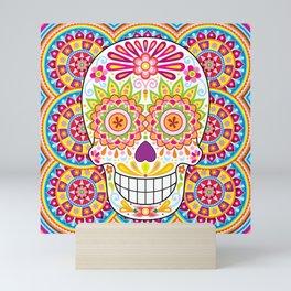Psychedelic Sugar Skull (Polychromasia) Mini Art Print