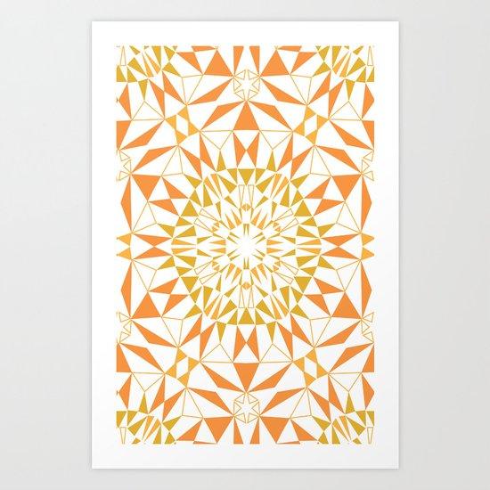 Love Triangle 5 Art Print