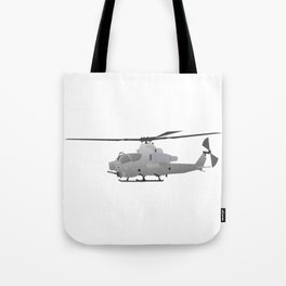 American Grey Attack Helicopter Tote Bag