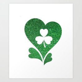 Flag Love St Patrick's Day Art Print
