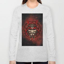 Samurai Mask, Bushido, Ronin Warrior, Samurai Art Long Sleeve T-shirt
