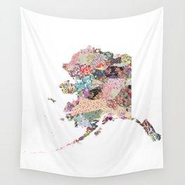 Alaska map Portrait Wall Tapestry