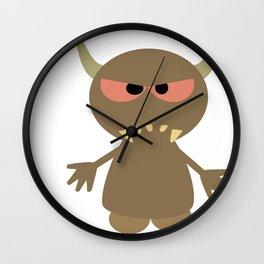 Little Mean Monster Wall Clock