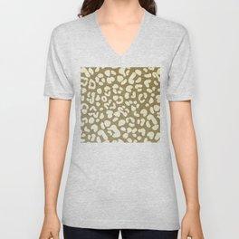 Leopard Beige Pattern Unisex V-Neck