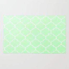 Green Lattice Rug