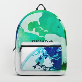 Every Day Is Earth Day - 03 Watercolor Backpack