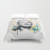 murray Duvet Covers featuring Bill Murray by Denise Esposito