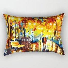 Tardis Starry Night Rectangular Pillow
