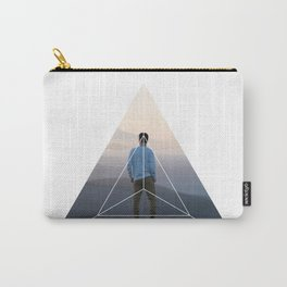 Top of the World Boy - Geometric Photography Carry-All Pouch