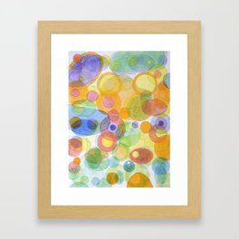 Vividly interacting Circles Ovals and Free Shapes Framed Art Print