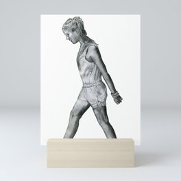 Merrily Skipping Girl Mini Art Print