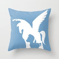 hercules Throw Pillows featuring Hercules (no title) by Citron Vert