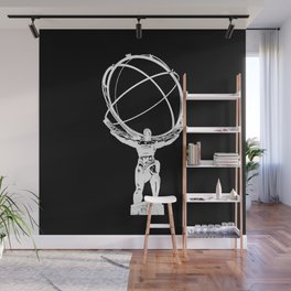 Atlas // Black Wall Mural