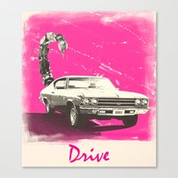 drive Canvas Prints featuring Drive by Joel Amat Güell