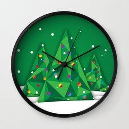 Vector Christmas Tree Wall Clock