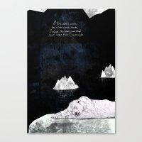 polar bear Canvas Prints featuring Polar Bear by Sandra Dieckmann