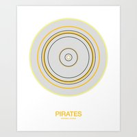 Pittsburgh rings Art Print