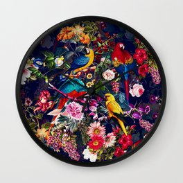 Floral and Birds XLV Wall Clock