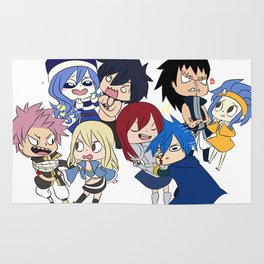 Fairy Tail Chibi Couples Rug