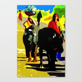 Buffalo Girls– Ranthambore, India Canvas Print